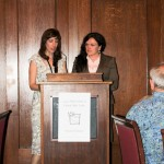 FRIENDS Board directors Cindy Lund and Heidi Nedreberg announcing the 2012 Friend of the Lake Award.