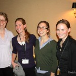 Dr. Karin Kettenring, Utah State University, Rebekah Downard, 2012 Doyle Stephens Scholarship recipient, Christine Rohal and Lexine Long, USU Masters students.
